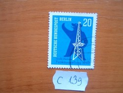 NYUGAT BERLIN NÉMET 20 PFG 1963 Berlin medve, adótorony C139