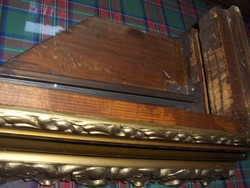 Antik karnis Barokk aranyozott egyforma  fa karnispár