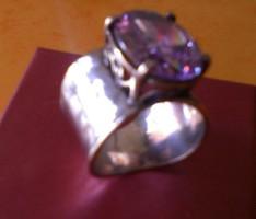 """Csodálatos izraeli"""""""",hatalmas """"""""ametiszt köves ,ezüst gyűrű"""