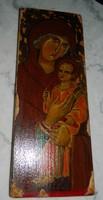 Szigeti Erzsébet ikonfestő kézzel festett másolat eredeti technikával: Piementi Isten Anyja 14. sz.