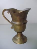 Antik szecessziós sárgaréz karaffa,kiöntő