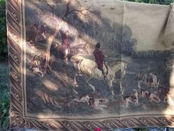 Akció ! Belga falikárpit Rókavadászat 131x185 cm minőségi,igényes