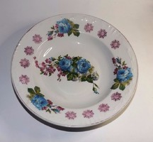 Antik kék rózsás falitányér