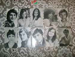 Színész, énekes fotók - 1971-81 - tíz darab