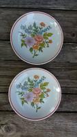 Hollóházi porcelán tányérok (2 db)