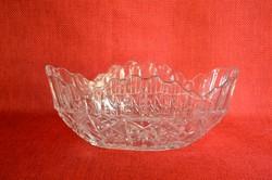 Meseszép ovál formájú Ólomkristály Bonbonier/ Asztalközép