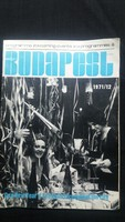 Budapest programfüzet 1971-ből
