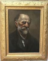 1800-as évekbeli kvalításos portré restaurált