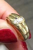 3 apró köves női arany gyűrű