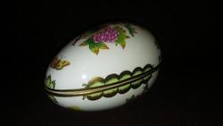Herendi gyönyörű ritka nagy Viktória mintás tojás bonbonier