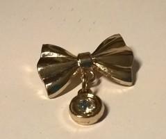 Aranyozott  masni alakú bross kitűző