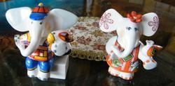 """2 db porcelán elefánt """"bébi"""" Villeroy&Boch"""