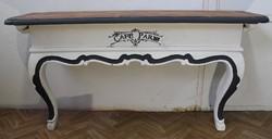 Vintage stílusú barokk konzolasztal!