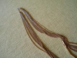 Aranyozott, hosszú nyaklánc