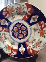 Antik japán Imari kézzel festett porcelán tányér