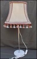 Retro Rudolf Arnold szövet burás asztali lámpa olvasólámpa