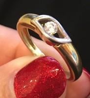 14 karátos 1 köves arany gyűrű, akár eljegyzésre is!