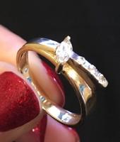 14 karátos köves arany gyűrű, akár eljegyzésre is!