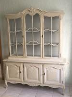 Chippendél barokk Bartels vitrines tálalószekrény162x50x205cm