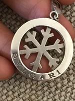 Bvlgari nagyméretű ezüst medál