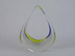 0M729 Régi muránói jellegű üveg dísztárgy