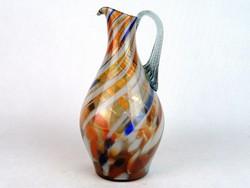 0M762 Régi muránói jellegű üveg kancsó 21 cm