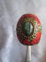 XIX. sz. származó ritkaság Perzsa pecsét gyűrű ötvös munka.