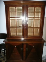 Gyönyörű antik, szecessziós, alsó angol fiókos könyves szekrény 1910