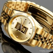 Swiss numbered gold men's watch, precious luxury watch, jewelry gold watch, beautiful gift