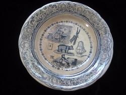 Francia antik tányér  hibátlan 20cm
