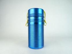 0N209 Régi retro kék alumínium termosz