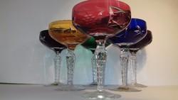 Lausitzer Glas Kristály pezsgős poharak Marsala mintás multikolor pohár készlet