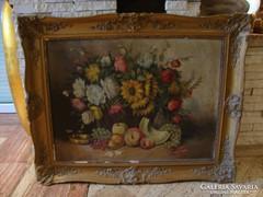 Csendélet festmény gyümölcsökkel olaj-vászon 80x99 cm