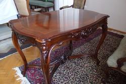 Rokokó / barokk stílusú összekötős szalon asztal - restaurált