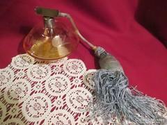 209. Mézsárga kristály parfümös üveg