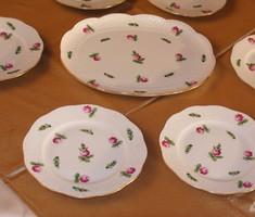 Herendi Petites roses 6 személyes, reggeliző (vacsorázó) készlet.