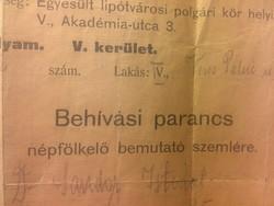 Behivási Parancs 1914 !!!!!!