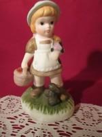 1790 Kézzel festett porcelán kislány