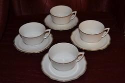 4 db aranytollazott manó füles Zsolnay teás csésze + alja    ( DBZ 0076 )
