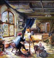 Adriaen van Ostade: Festő a műtermében