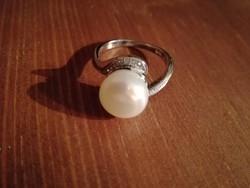 Ezüst gyöngyös gyűrű ag925