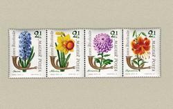1963. Bélyegnap / virágok postatiszta sorozat