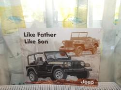 Retro fém tábla Jeep like father like Son