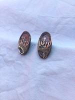 Régi ezüst fülbevalópár