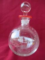 107.  Mintás dugós likőrös üveg 17 cm