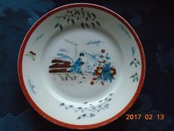 Antik kézzel festett  kézzel jelzett Imari  japán tányér 20 cm