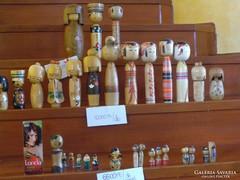 Antik 33 darabos japán kokeshi fababa gyűjtemény egyben
