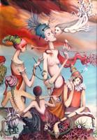 Kolozsvári Grandpierre Miklós, Szieszta 70x50 cm, olaj, vászon festmény