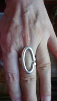 925 ezüst design, mesterjelzett gyűrű, 9 gramm
