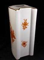 Ritka gyönyörű és különleges formájú első osztályú 16 cm herendi váza